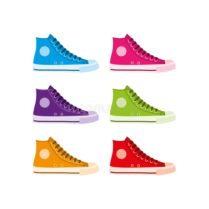Download Hitop Trainers Stock Image - Image: 22670401