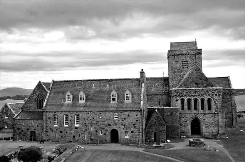 Hitos históricos escoceses - Iona Abbey fotografía de archivo
