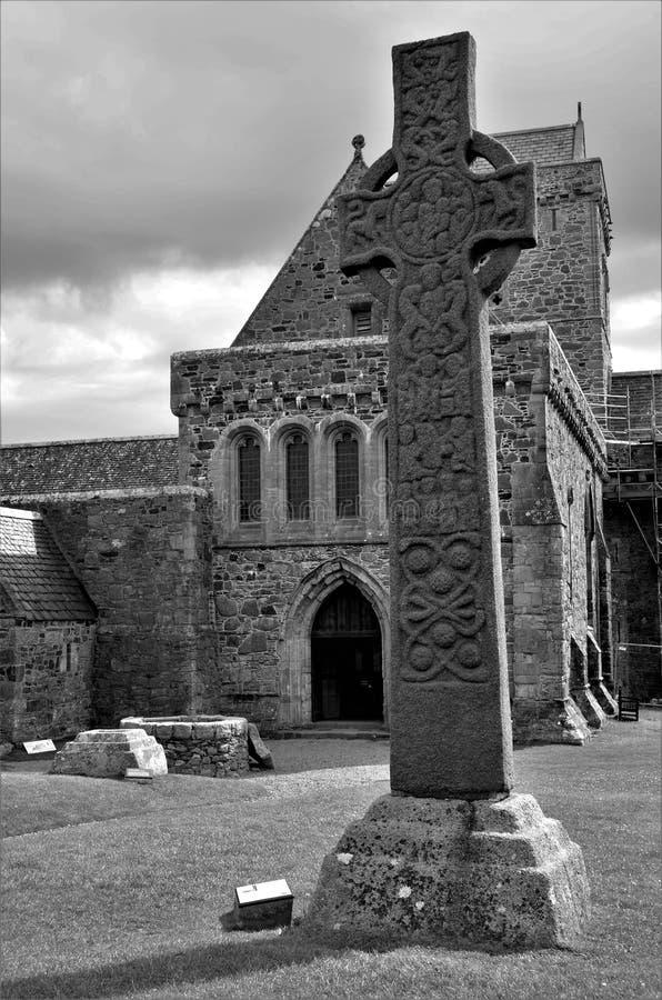 Hitos históricos escoceses - Iona Abbey imágenes de archivo libres de regalías