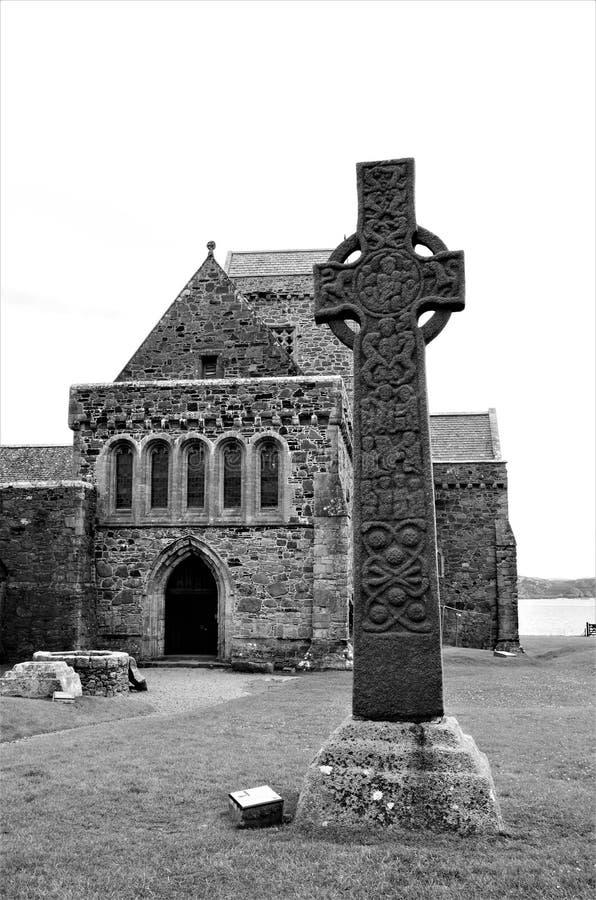 Hitos históricos escoceses - Iona Abbey imagenes de archivo
