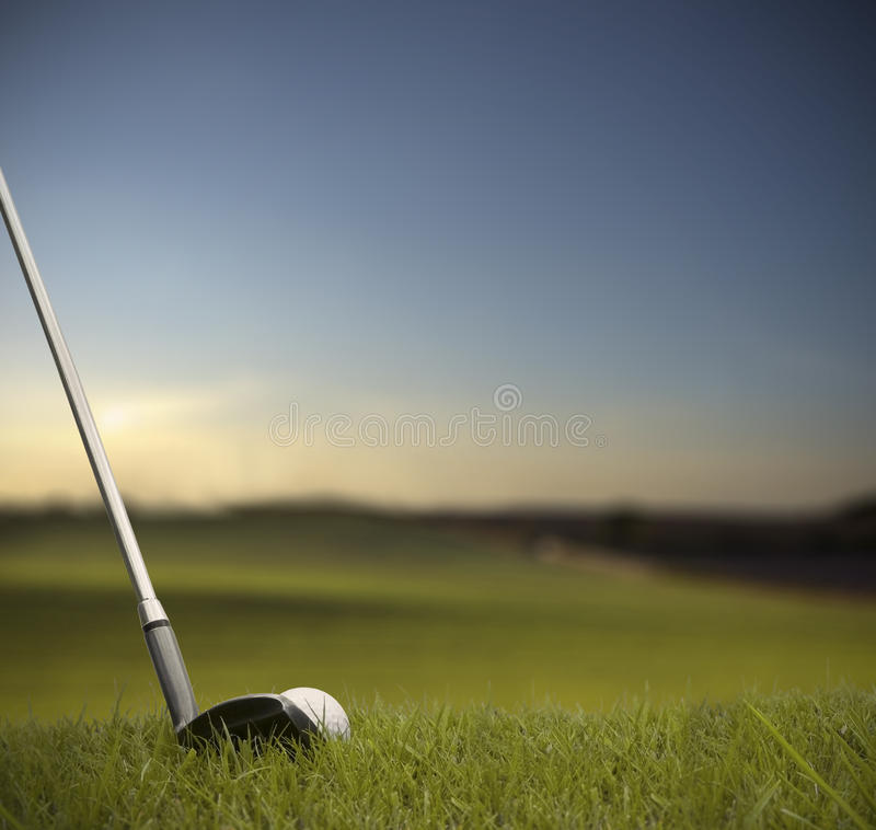 Free Hitting Golf Ball With Club Stock Images - 23731304