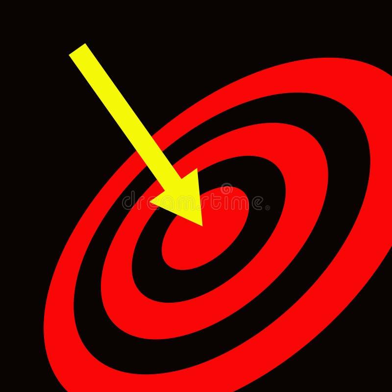 Hitting target vector illustration