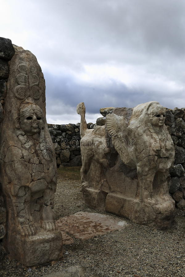Hittites, Hattusa obraz stock