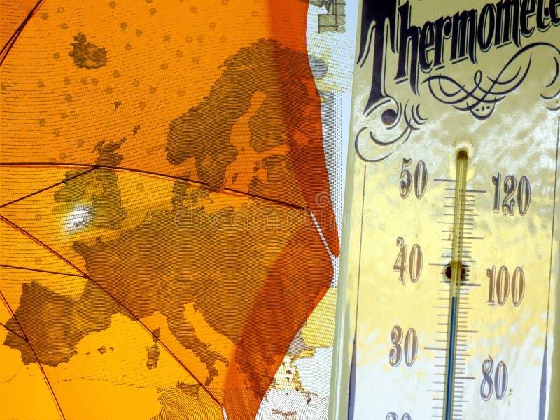 Hitzewelle in Europa lizenzfreie abbildung