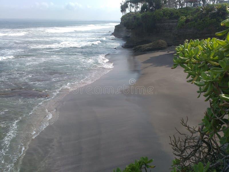 Hiu Java occidental de batu de plage images libres de droits