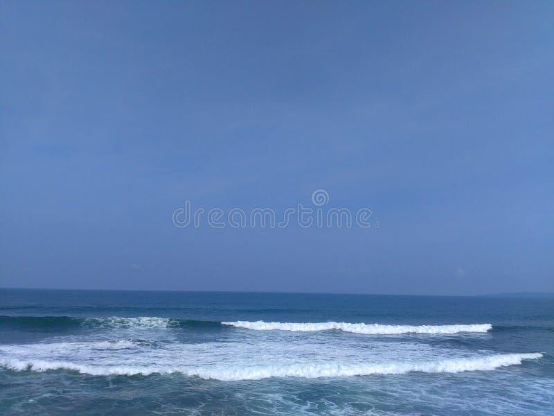 Hiu Java occidental de batu de plage photos stock
