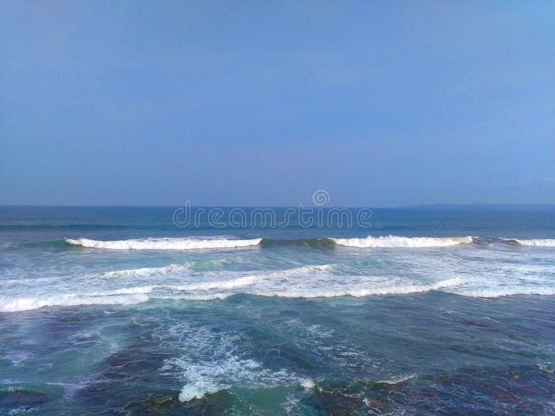 Hiu Java occidental de batu de plage images stock
