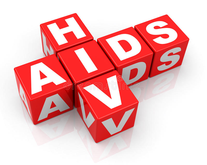 HIV and AIDS. 3d generated picture of a HIV and AIDS concept royalty free illustration