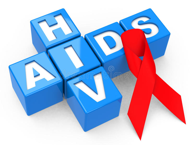 HIV and AIDS. 3d generated picture of a HIV and AIDS concept vector illustration