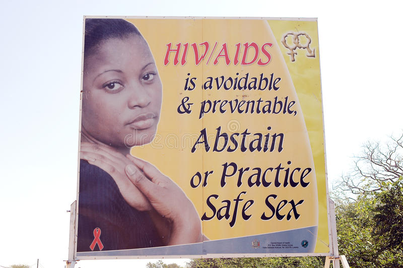 Download HIV AIDS Zambian Information Editorial Stock Photo - Image of abstain, zambia: 20027113