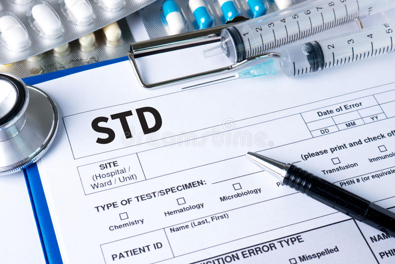 HIV delle malattie sessualmente trasmesse, HBV, HCV, sifilide STD, st fotografie stock