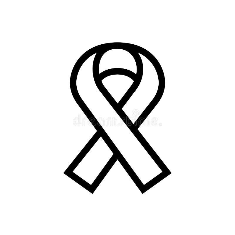 Hiv-Hilfsbandikonenentwurfsgemeinschaftsautosymbol Linie medizinische Gesundheitswesenillustration der Kunst lizenzfreie abbildung