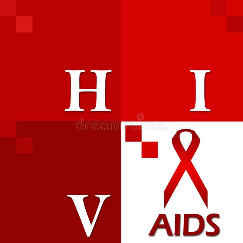 HIV POMAGA rewolucjonistkę Cztery bloku royalty ilustracja