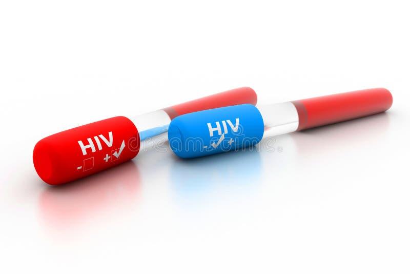 HIV positivo e negativo illustrazione di stock
