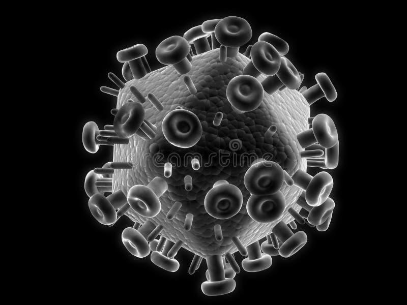 Hiv-vírus ilustração do vetor