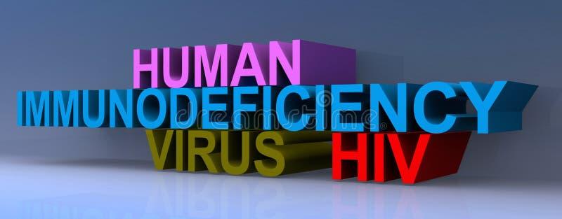 HIV virus heading. On blue background royalty free illustration