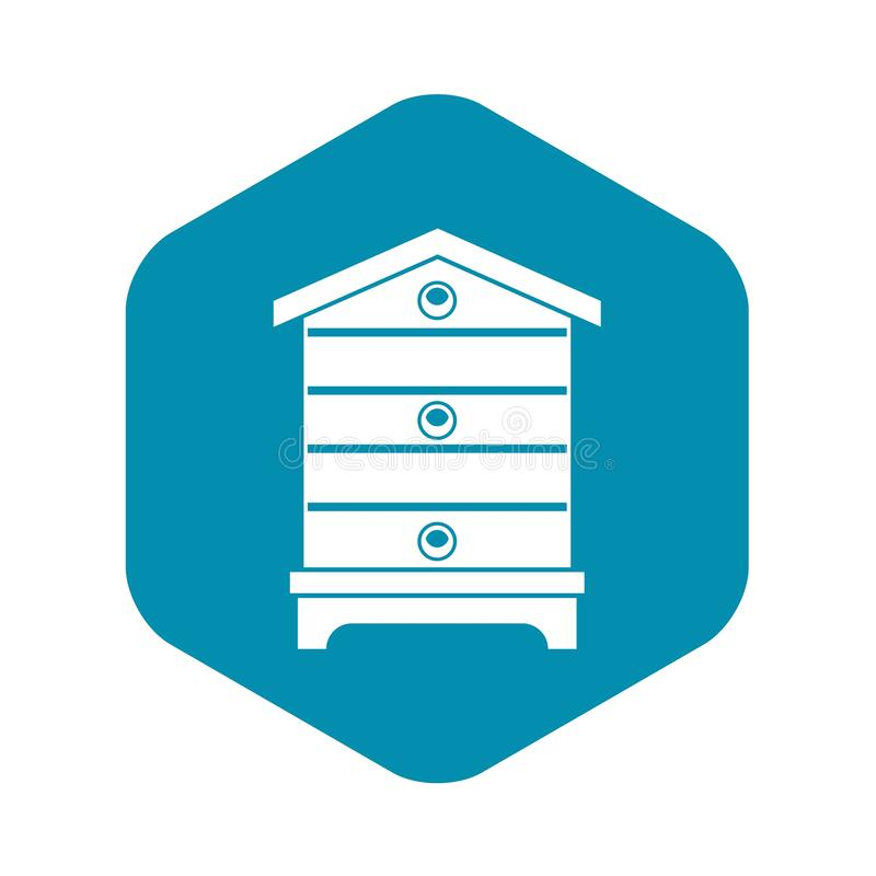 Hive icon, simple style stock illustration