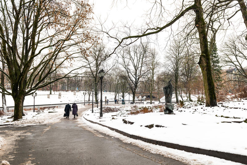 Hiver à Riga, Lettonie photographie stock