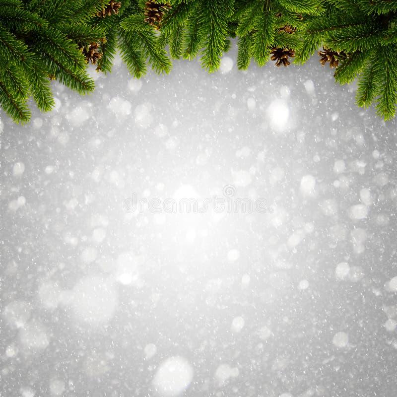Hiver abstrait et milieux de Noël photographie stock