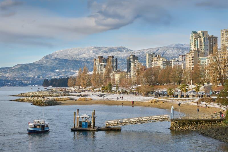 Hiver anglais de baie, Vancouver photo stock
