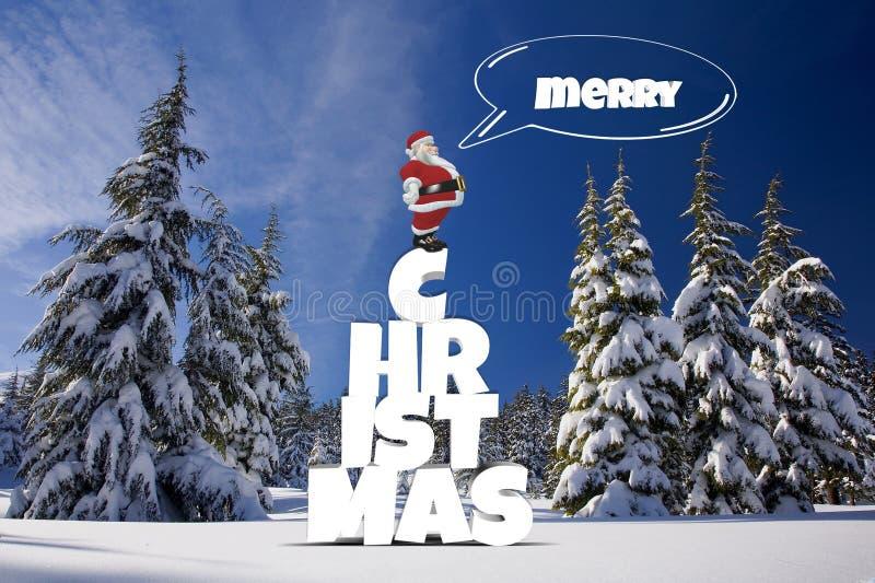 Hiver, arbre de Noël, neige, arbre