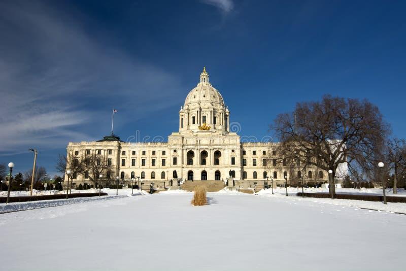 Hiver, bâtiment de capitale de l'État, Saint Paul, Minnesota, Etats-Unis photos stock