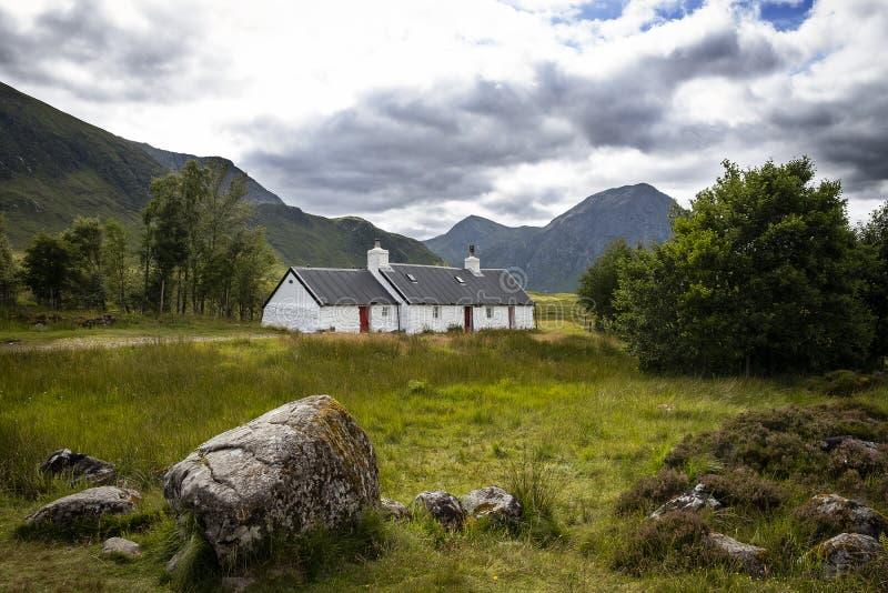 Hiver BRITANNIQUE de pluie de voyage de montagnes de l'Ecosse Glencoe image libre de droits