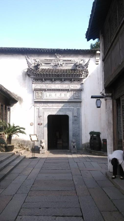 Hiver Chine de vue de Wuzhen Watertown photo stock