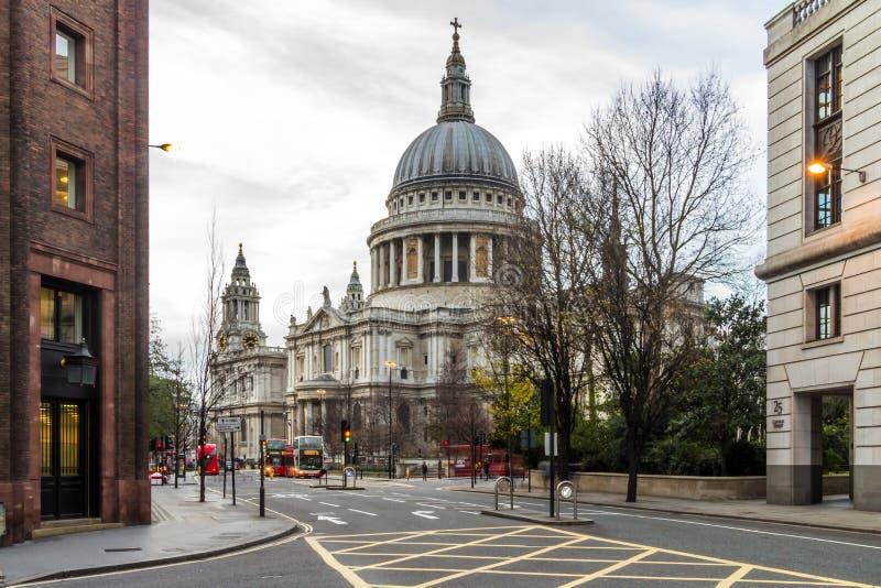 Hiver dans la ville de Londres images stock
