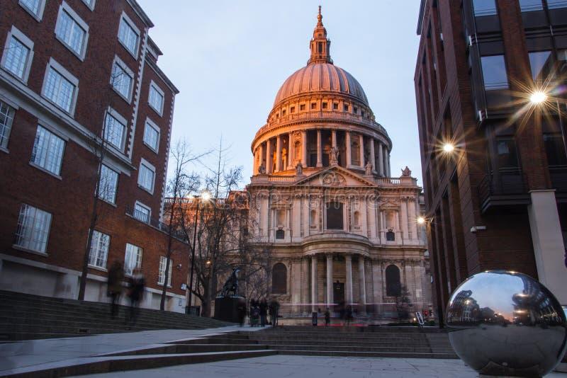Hiver dans la ville de Londres photographie stock