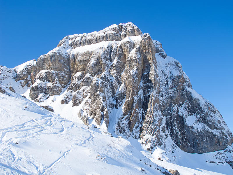 Hiver dans les alpes photo stock