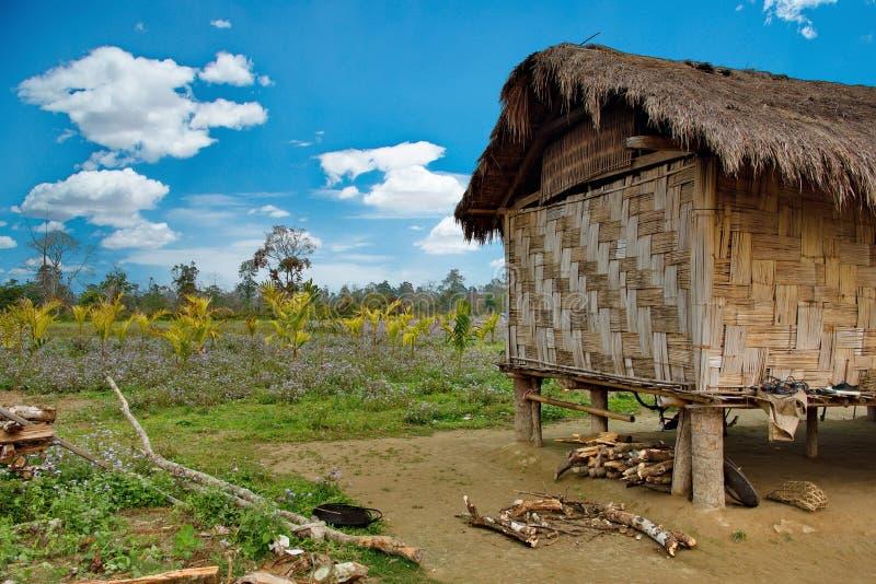 Hiver dans les villages des collines de l'Himalaya photo libre de droits