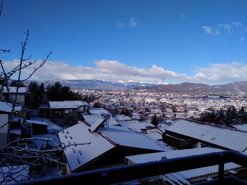 Hiver dans Ohrid photos stock