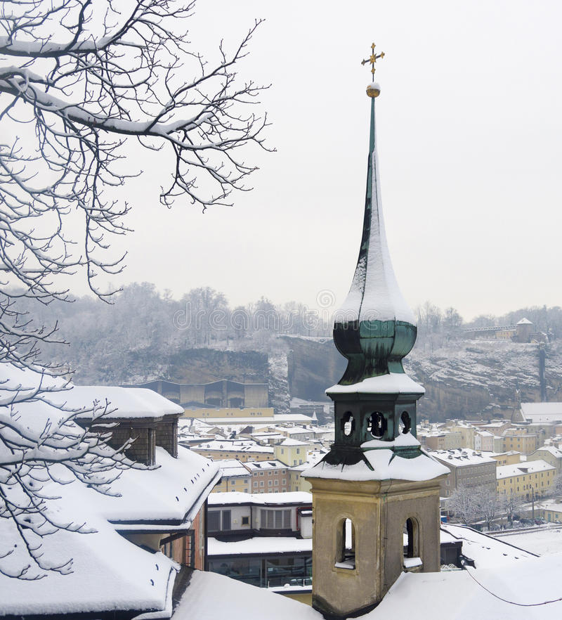Hiver de Milou à Salzbourg photographie stock libre de droits