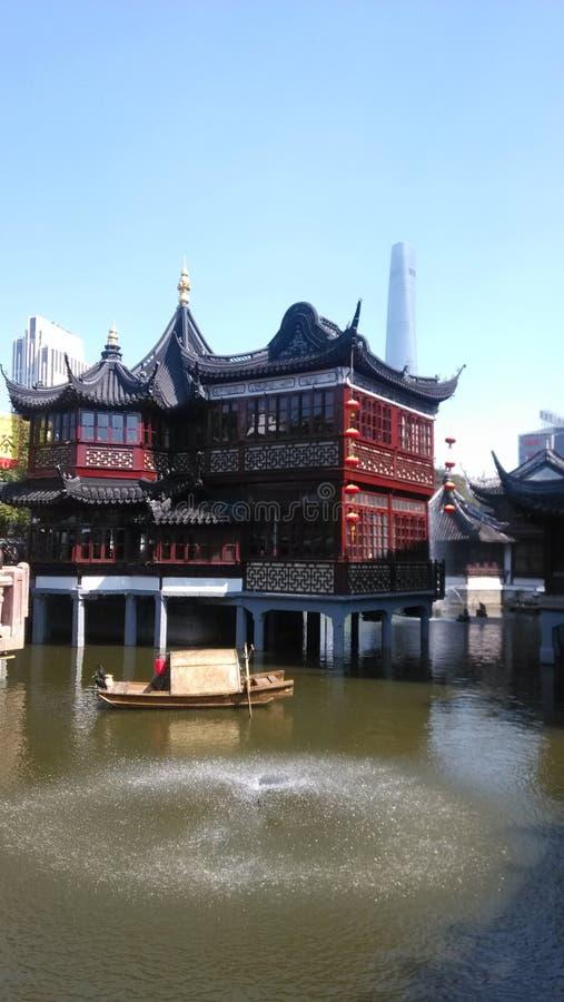 Hiver de Sanghai Chine de vue de jardin de Yu photo stock