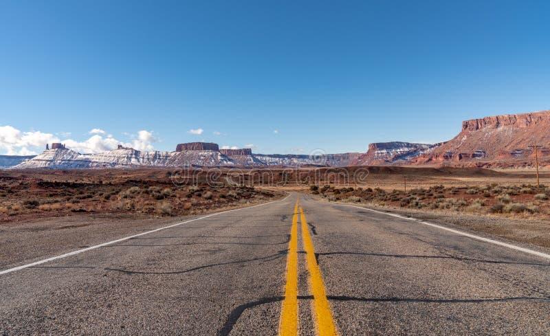 Hiver en vallée Utah de château photographie stock libre de droits
