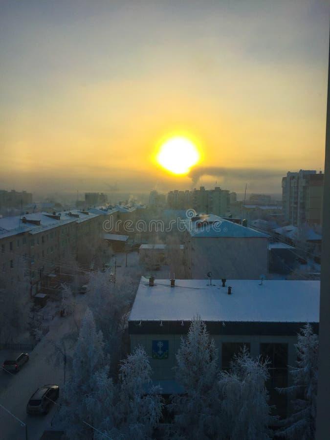 Hiver froid -40 degrés de Celsius photo libre de droits