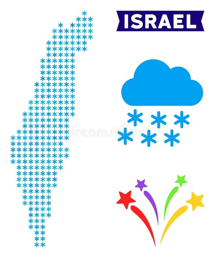 Hiver Israel Map illustration de vecteur