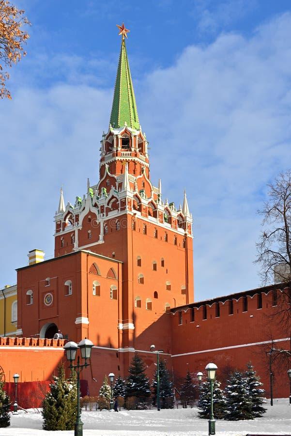 Hiver Moscou Tour de Troitskaya de tour de trinité de Moscou Kremlin image stock
