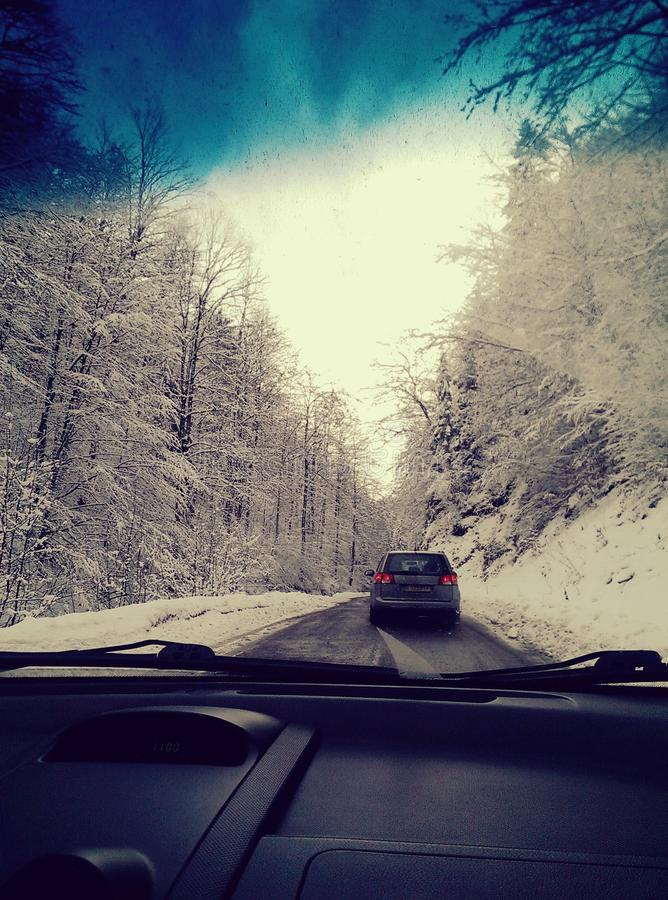 Hiver Roumanie brasov images stock