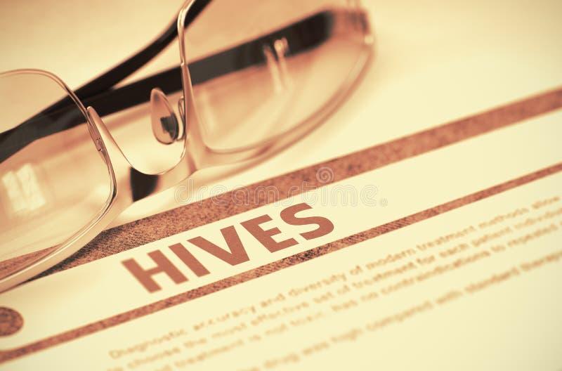 hives Conceito médico no fundo vermelho ilustração 3D imagem de stock