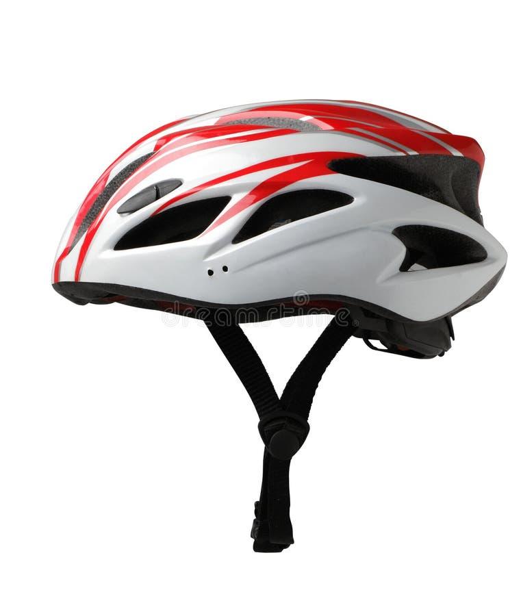 Hjälm för cykelmountainbikesäkerhet royaltyfria bilder