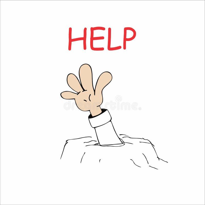 Hjälp stock illustrationer