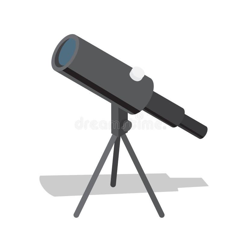 Hjälp för optiskt instrument för teleskop i observation royaltyfri illustrationer