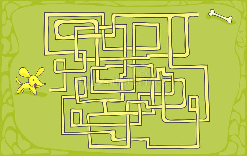 Labyrint - Maze vektor illustrationer