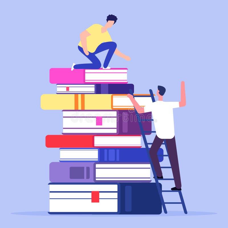 Hjälp och service i utbildningsvektorbegrepp vektor illustrationer
