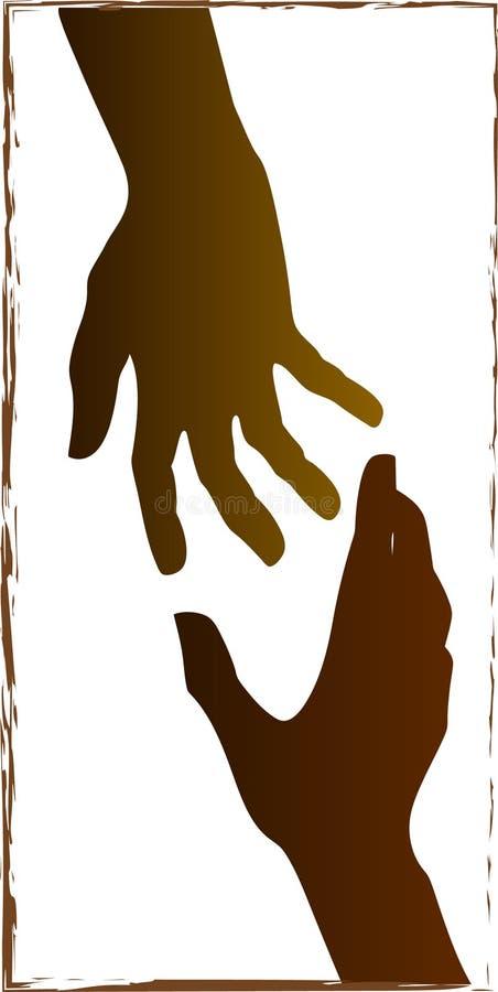 hjälpa för händer stock illustrationer