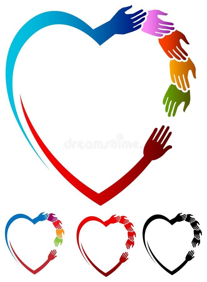 hjälpa för hjärta royaltyfri illustrationer