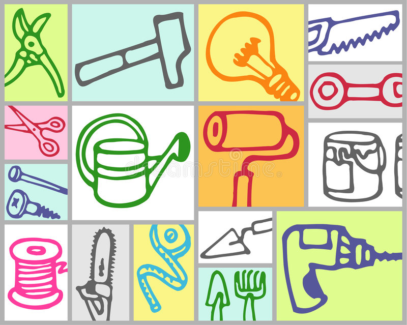 hjälpmedel vektor illustrationer