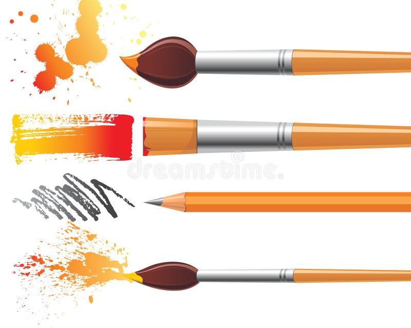 hjälpmedel för målare s royaltyfri illustrationer